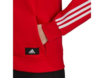adidas Damen Sportswear Future Icons 3-Streifen Kapuzenjacke Rot