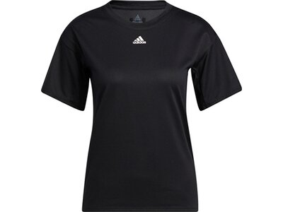 adidas Damen Training 3-Streifen AEROREADY T-Shirt Schwarz