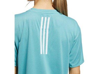 adidas Damen Training 3-Streifen AEROREADY T-Shirt Blau