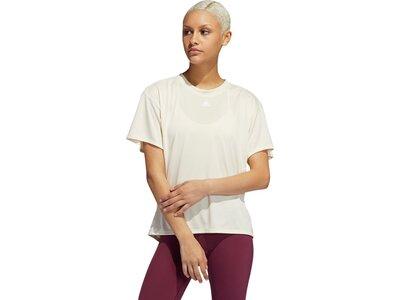 adidas Damen Training 3-Streifen AEROREADY T-Shirt Weiß