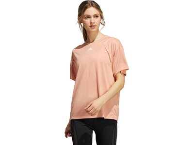 adidas Damen Training 3-Streifen AEROREADY T-Shirt Pink