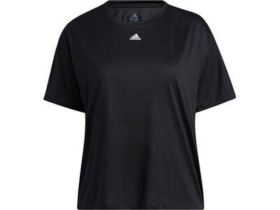 adidas Damen Training 3-Stripes AEROREADY T-Shirt – Große Größen Schwarz