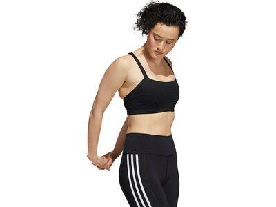 adidas Damen Light-Support Yoga Sport-BH Schwarz