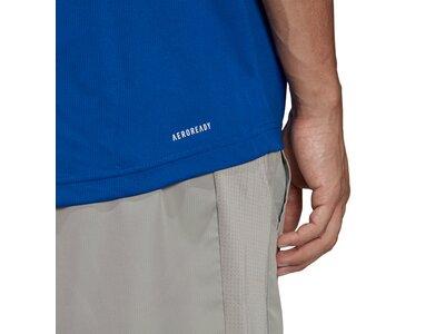adidas Herren AEROREADY Designed To Move Sport Poloshirt Blau
