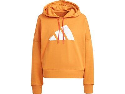 adidas Damen Sportswear Future Icons Hoodie Orange