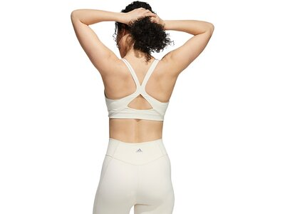 adidas Damen Medium-Support High-Neck Yoga Sport-BH Pink