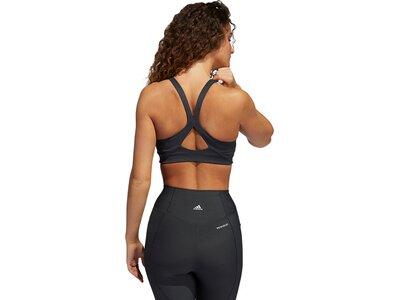 adidas Damen Medium-Support High-Neck Yoga Sport-BH Schwarz
