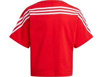 adidas Kinder Organic Cotton Future Icons Sport 3-Streifen Loose T-Shirt Rot