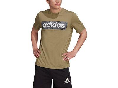 adidas Herren AEROREADY Designed to Move Sport Cotton Touch Camo T-Shirt Grau
