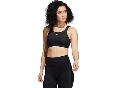 adidas Damen Believe This Medium-Support Lace Camo Workout Sport-BH Schwarz