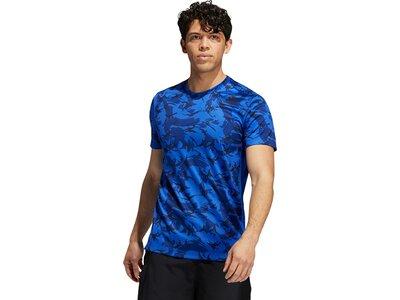 adidas Herren Camo Everyday T-Shirt Blau