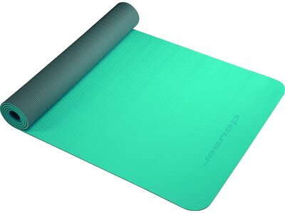 DEUSER Yoga-Matte (TPE) - petrol/grau Grün