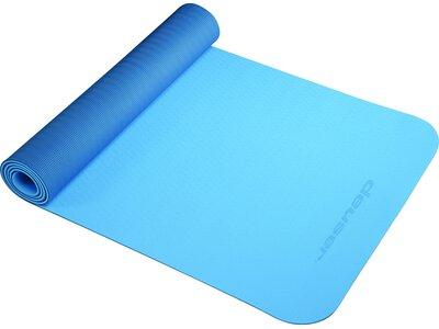 DEUSER Yoga-Matte (TPE) - hellblau/dunkelblau Blau