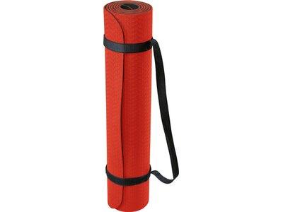 DEUSER Yoga-Matte (TPE) - rot/schwarz Rot