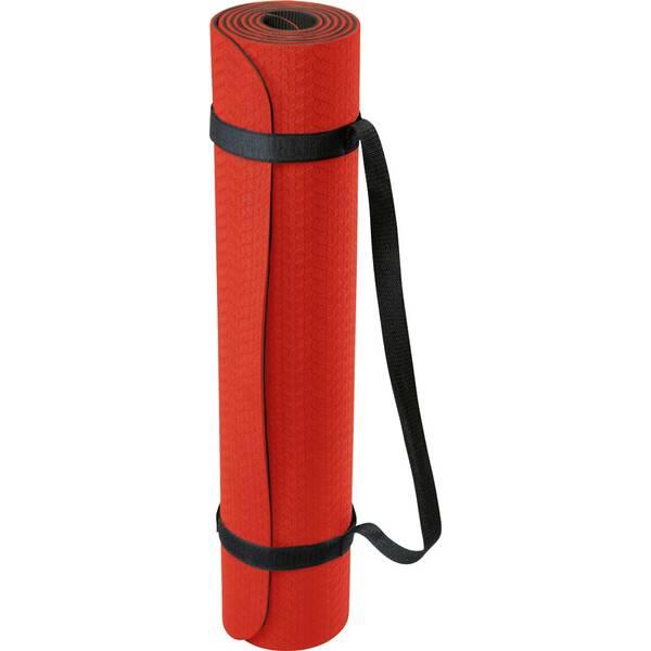 DEUSER Yoga-Matte (TPE) - rot/schwarz