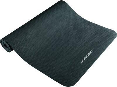 DEUSER Yoga-Matte (TPE) - schwarz/grau Schwarz