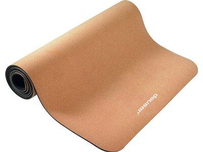 DEUSER Yoga-Matte (TPE) - kork/grau Braun