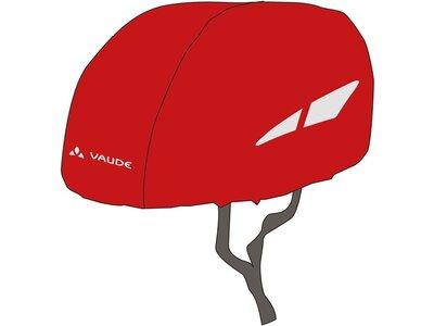VAUDE Kinder Helm Regenschutz Rot