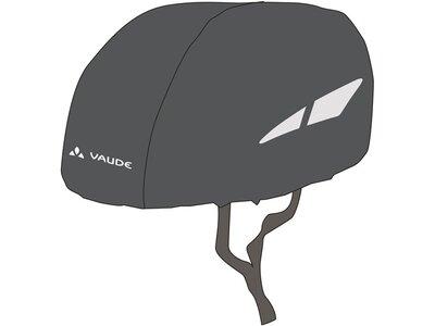 VAUDE Helm Regenschutz Schwarz