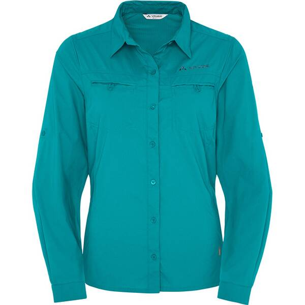 VAUDE Damen Bluse Women's Farley LS Shirt Blau