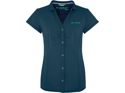 VAUDE Damen Trekkingbluse Skomer Shirt Kurzarm Blau