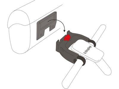 """VAUDE Lenkertaschenhalterungssystem """"Klick Fix"""" für E-Bikes Grau"""