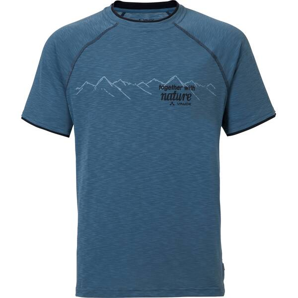 VAUDE Herren Shirt Skomer Print Shirt Blau