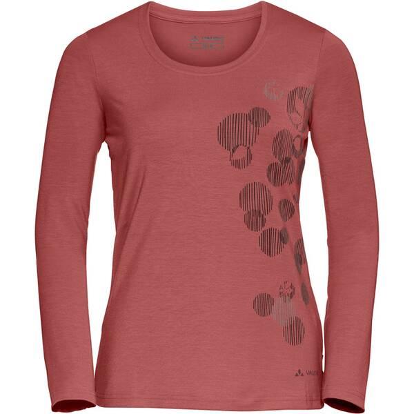 VAUDE Damen Shirt Gleann LS Shirt Rot