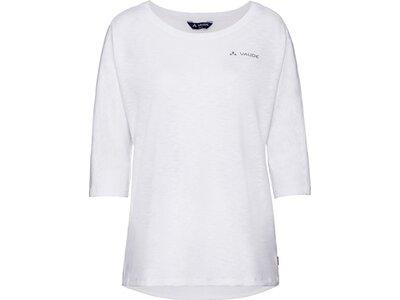 VAUDE Damen T-Shirt Skomer 3/4 Shirt Weiß