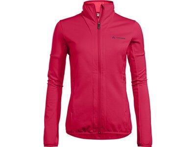 VAUDE Damen Pullover Women's Back Bowl Fleece FZ Jacket Rot