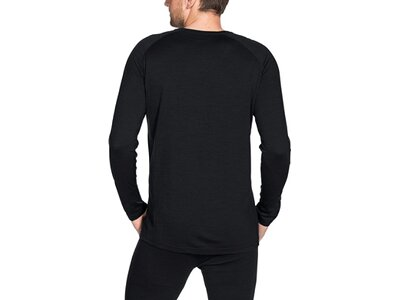 VAUDE Herren T-Shirt Men's Base LS Shirt Schwarz