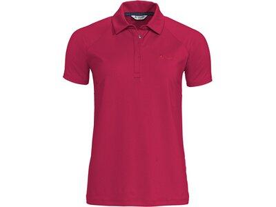 VAUDE Damen T-Shirt Skomer Polo Shirt Rot