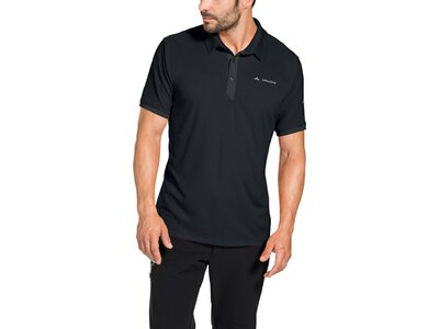VAUDE Herren T-Shirt Roslin Polo Shirt Schwarz