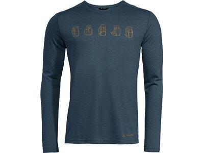VAUDE Herren Rosemoor LS T-Shirt II Blau