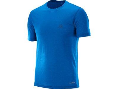 SALOMON Herren Shirt Explore Ss Tee M Blau