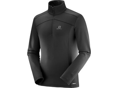 SALOMON Herren Midlayer Shirt DISCOVERY LT HZ M Schwarz