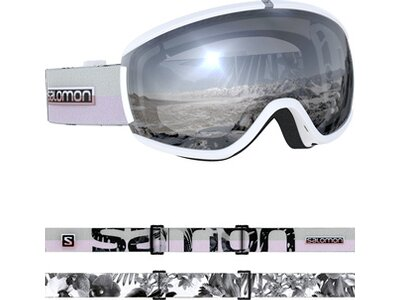 SALOMON Damen Skibrille iVY WHITE FLOWER Weiß