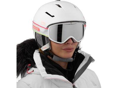 SALOMON Damen Skibrille SENSE WHITE CORAIL NEON Weiß