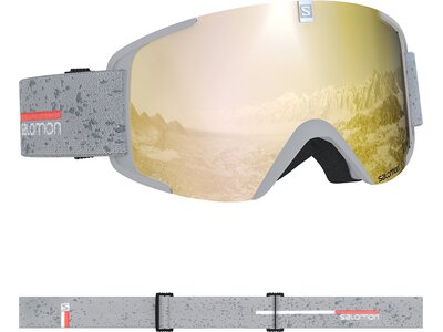 SALOMON Skibrille XVIEW White matt/Solar Bronze Grau