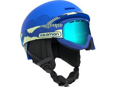 SALOMON Kinder Helm HELMET GROM Pop Blue Mat Blau