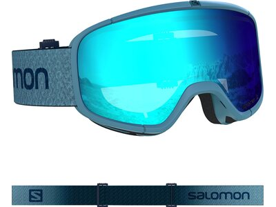 SALOMON Skibrille FOUR SEVEN Blue/Uni Mid Blue Grün