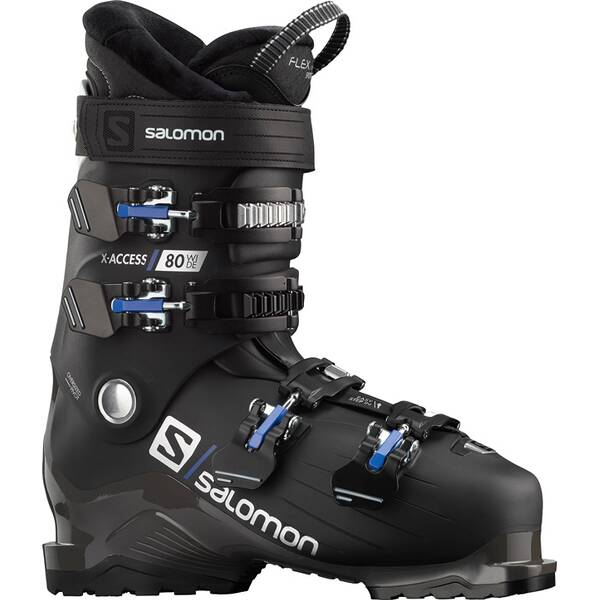 SALOMON ALP. BOOTS X ACCESS 80 wide BLACK/White