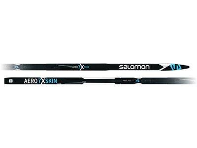 SALOMON Langlaufski AERO 7X SKIN X Stiff + PSP Schwarz