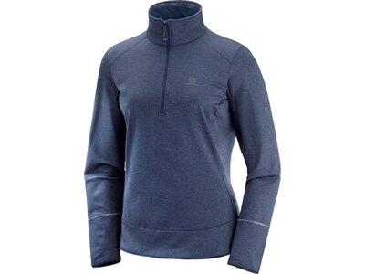 SALOMON Damen Midlayer Shirt DISCOVERY HZ W Blau
