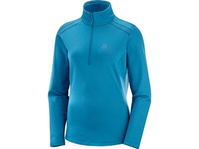 SALOMON Damen Midlayer Shirt DISCOVERY LT HZ W Blau