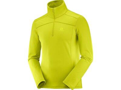 SALOMON Herren Midlayer Shirt DISCOVERY LT HZ M Gelb