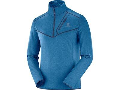 SALOMON Herren Midlayer Shirt DISCOVERY HZ M Blau