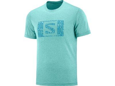 SALOMON Herren T-Shirt EXPLORE GRAPHIC SS TEE M Blau
