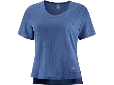 SALOMON Damen T-Shirt ELEVATE AERO TEE W Blau