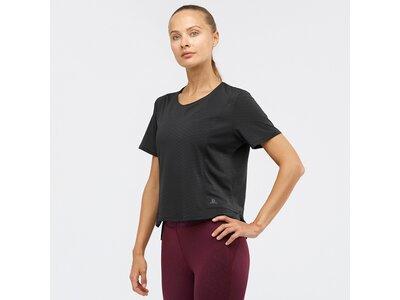 SALOMON Damen T-Shirt ELEVATE AERO TEE W Schwarz